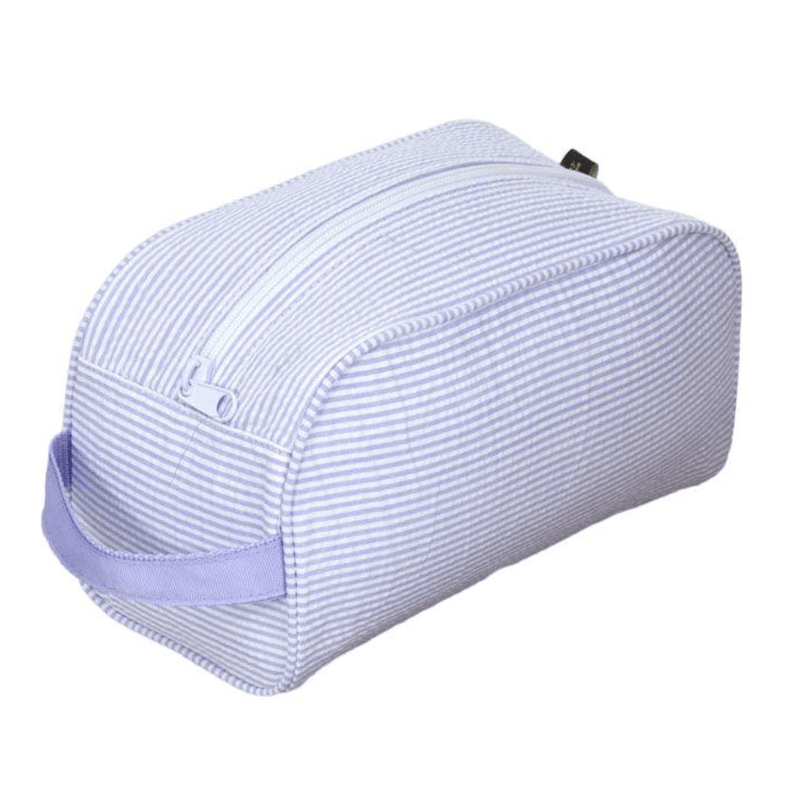 Lilac Seersucker Traveler Bag