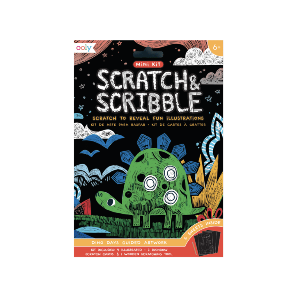 OOLY Mini Scratch & Scribble Art Kit: Dino Days