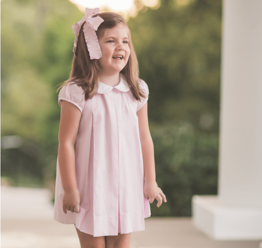 Proper Peony Soft Pink Classic Pleat Dress