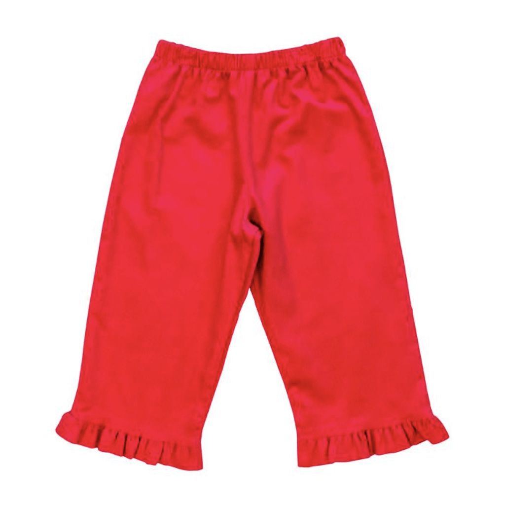 Bailey Boys Corduroy Elastic Pants with Ruffle - Fuchsia