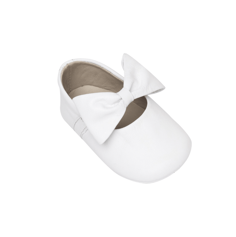 Elephantito Baby Ballerina with Bow - White