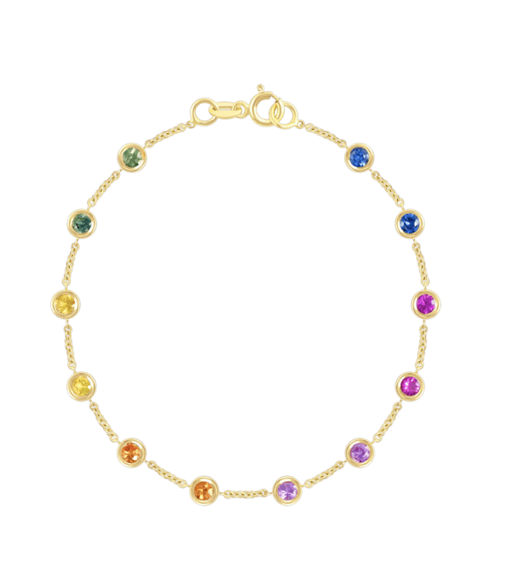 leMel June Rainbow Bezeled Bracelet