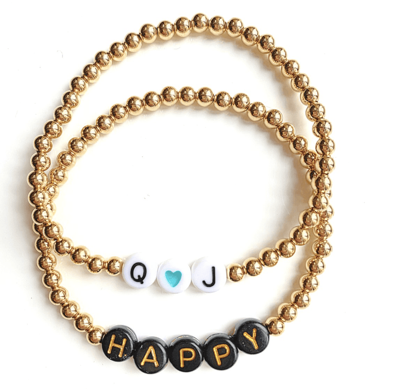 leMel Custom Name Everyday Stretch Bracelet