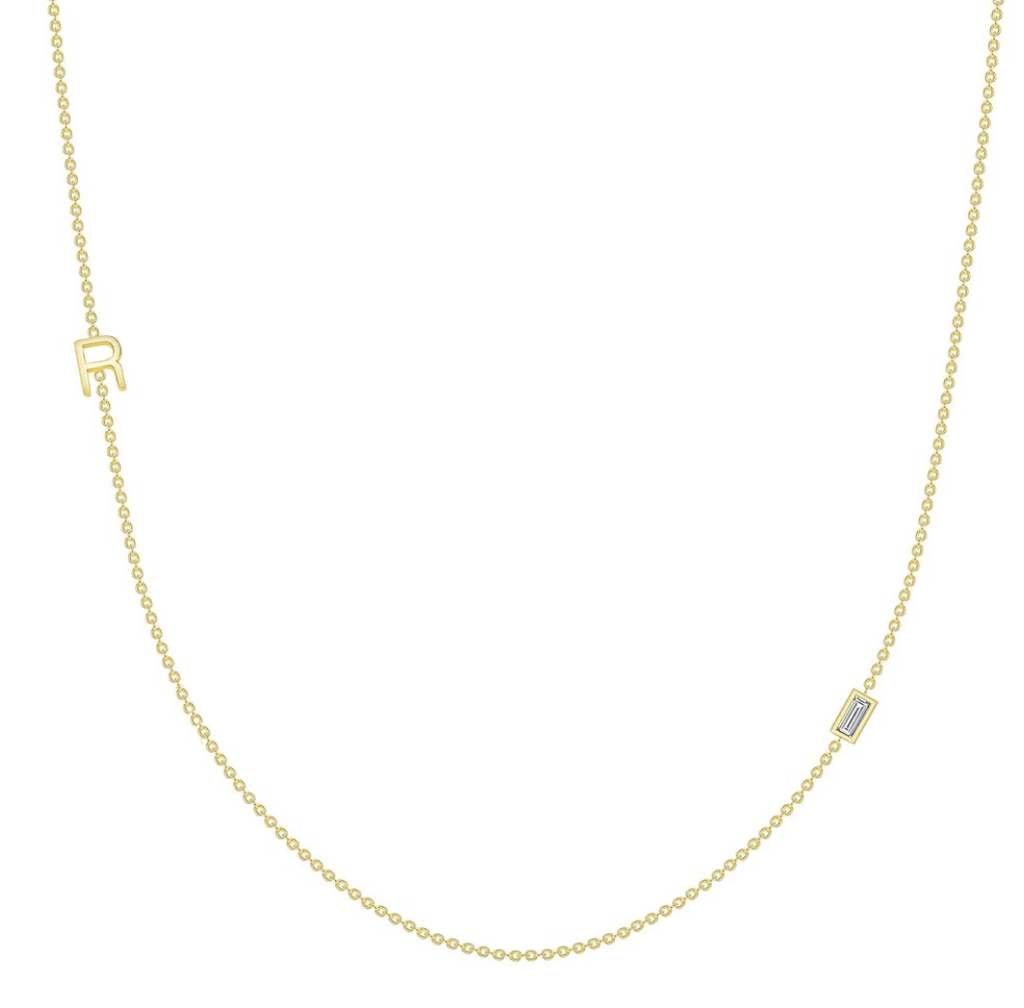 leMel The Initial Necklace - 1 Letter 14K
