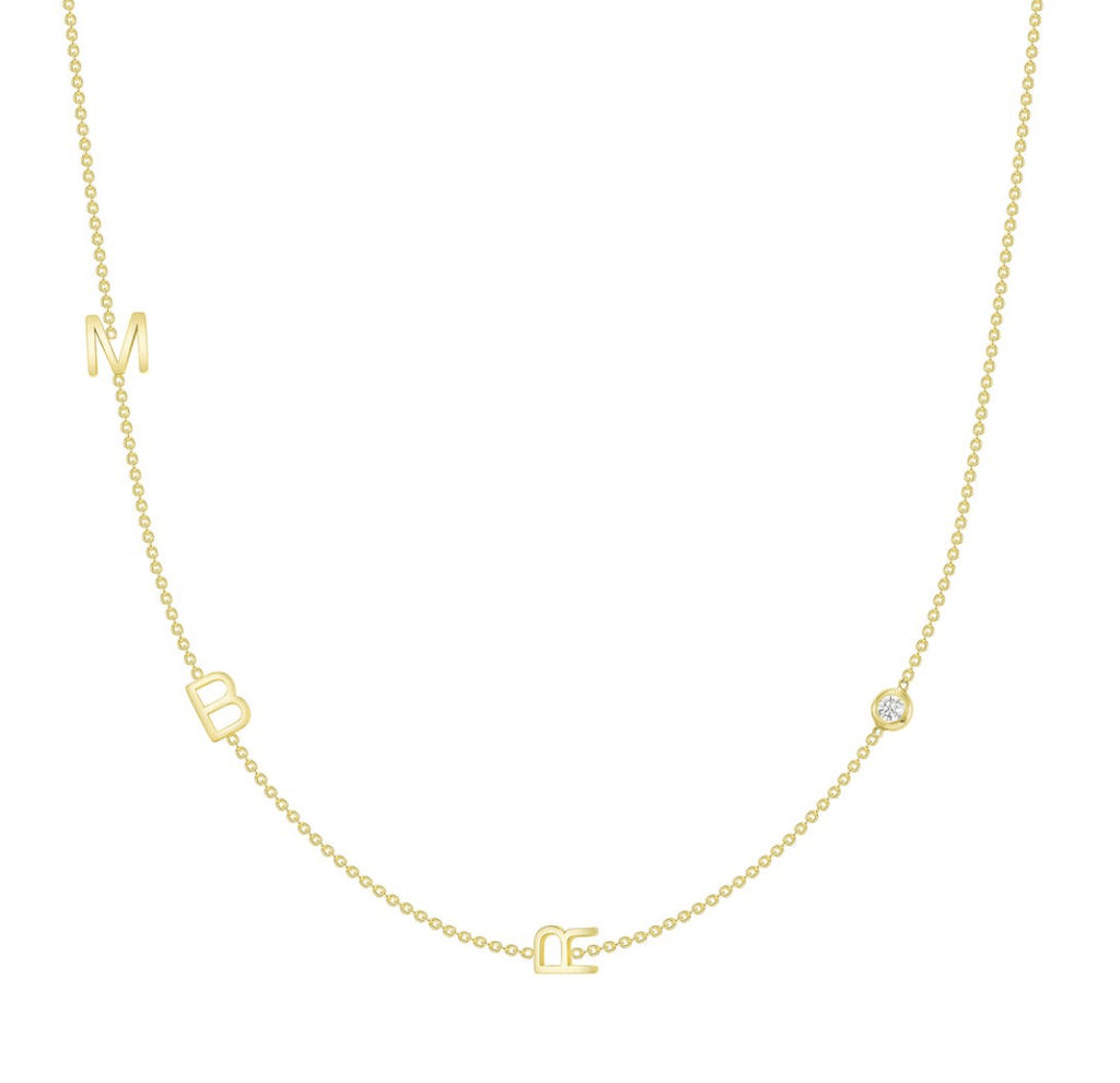 leMel The Initial Necklace - 3 Letters 14K