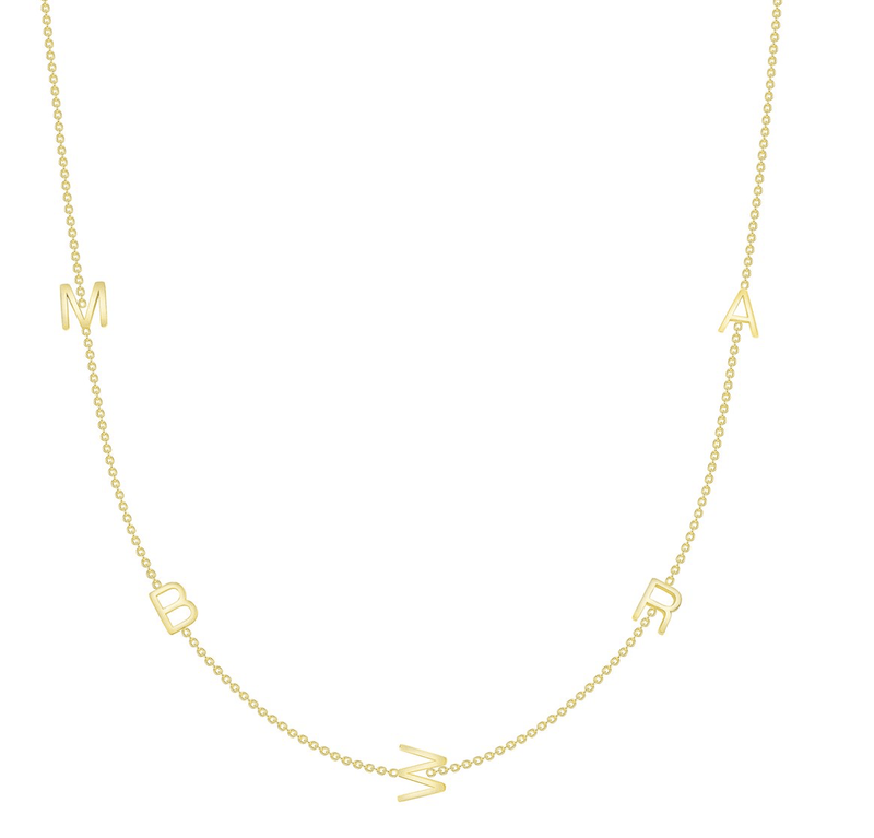 leMel The Initial Necklace - 5 Letters 14K Gold