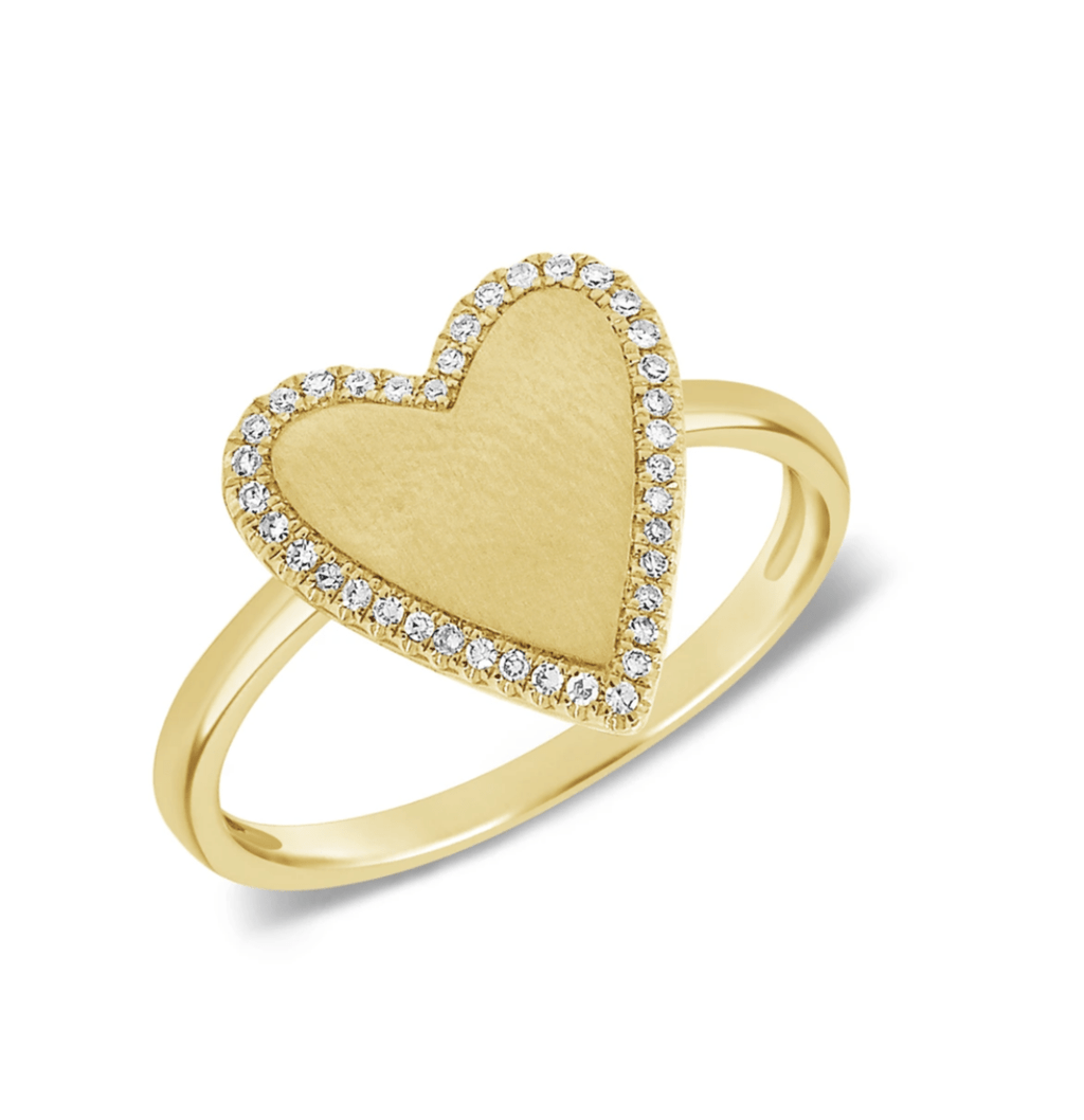 leMel Amore Ring Diamonds in 14k Yellow Gold
