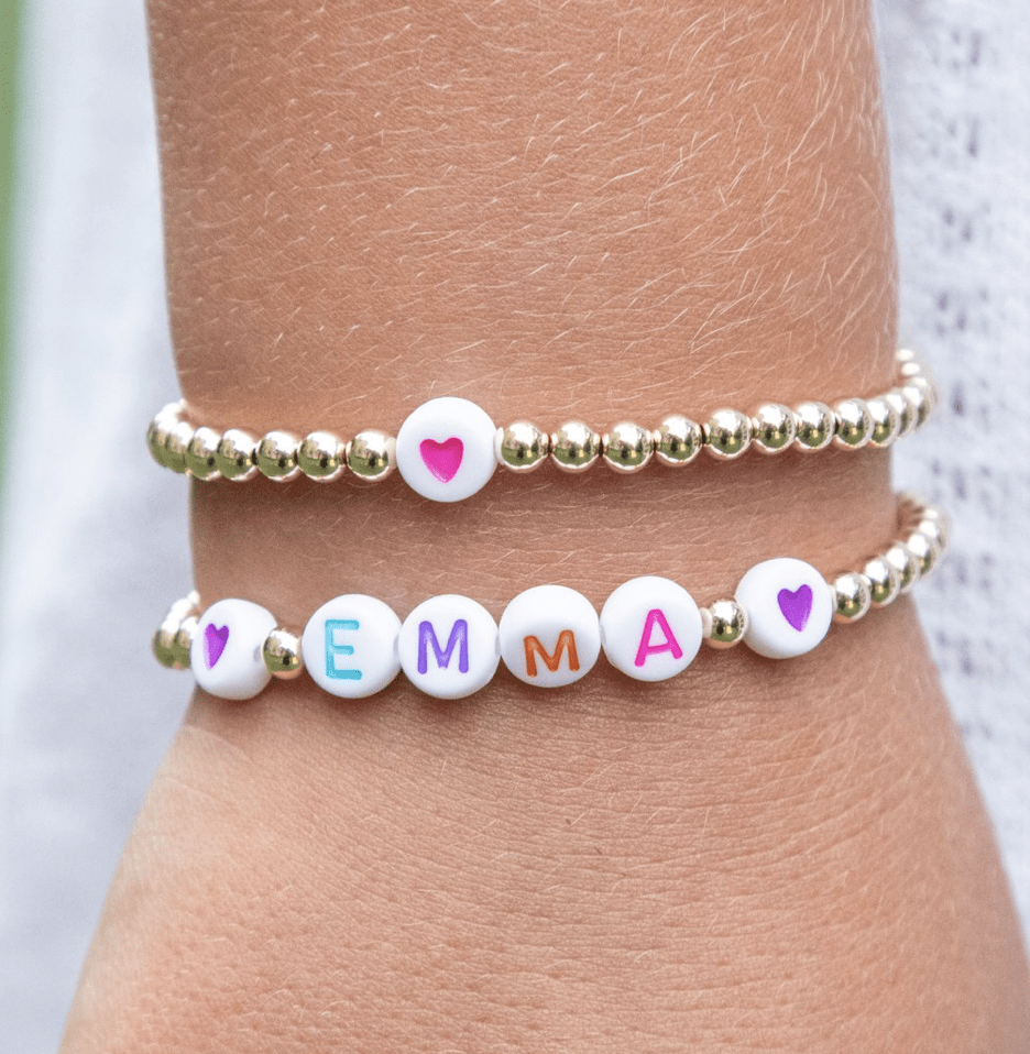 leMel Kid Custom Name Stretch Bracelet