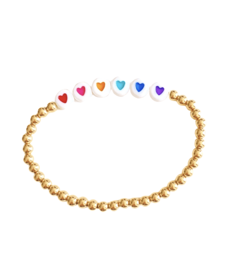 leMel Kid Rainbow Hope Stretch Bracelet