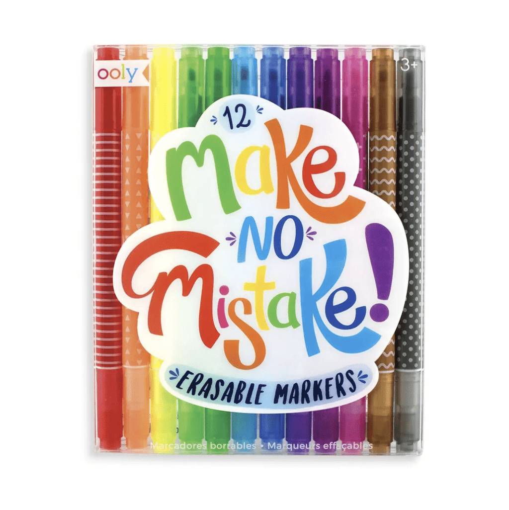 OOLY Make No Mistakes Erasable Markers (12 PCS)