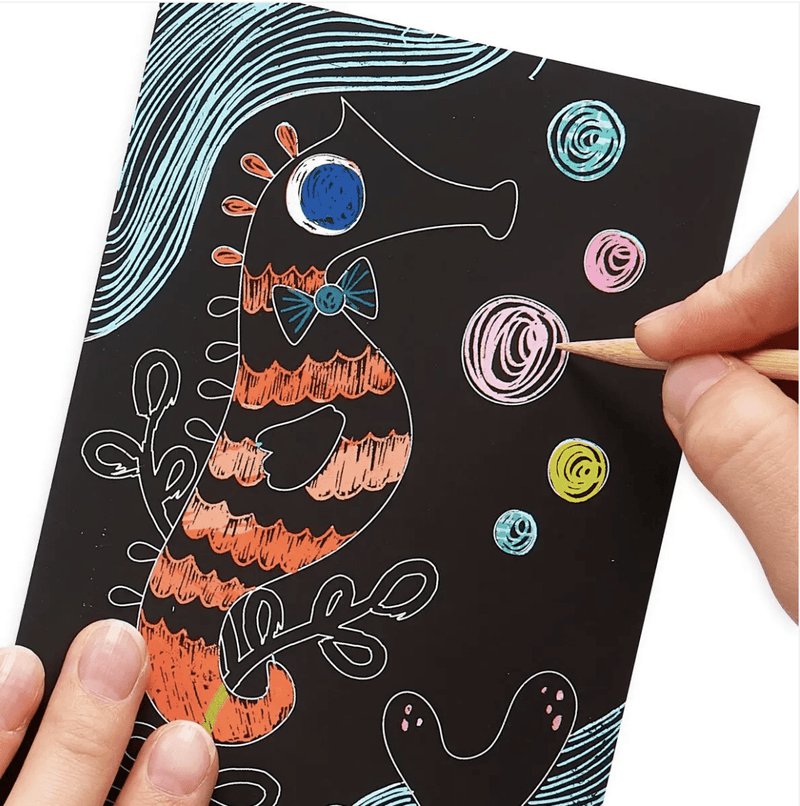 OOLY Mini Scratch & Scribble Art Kit: Friendly Fish