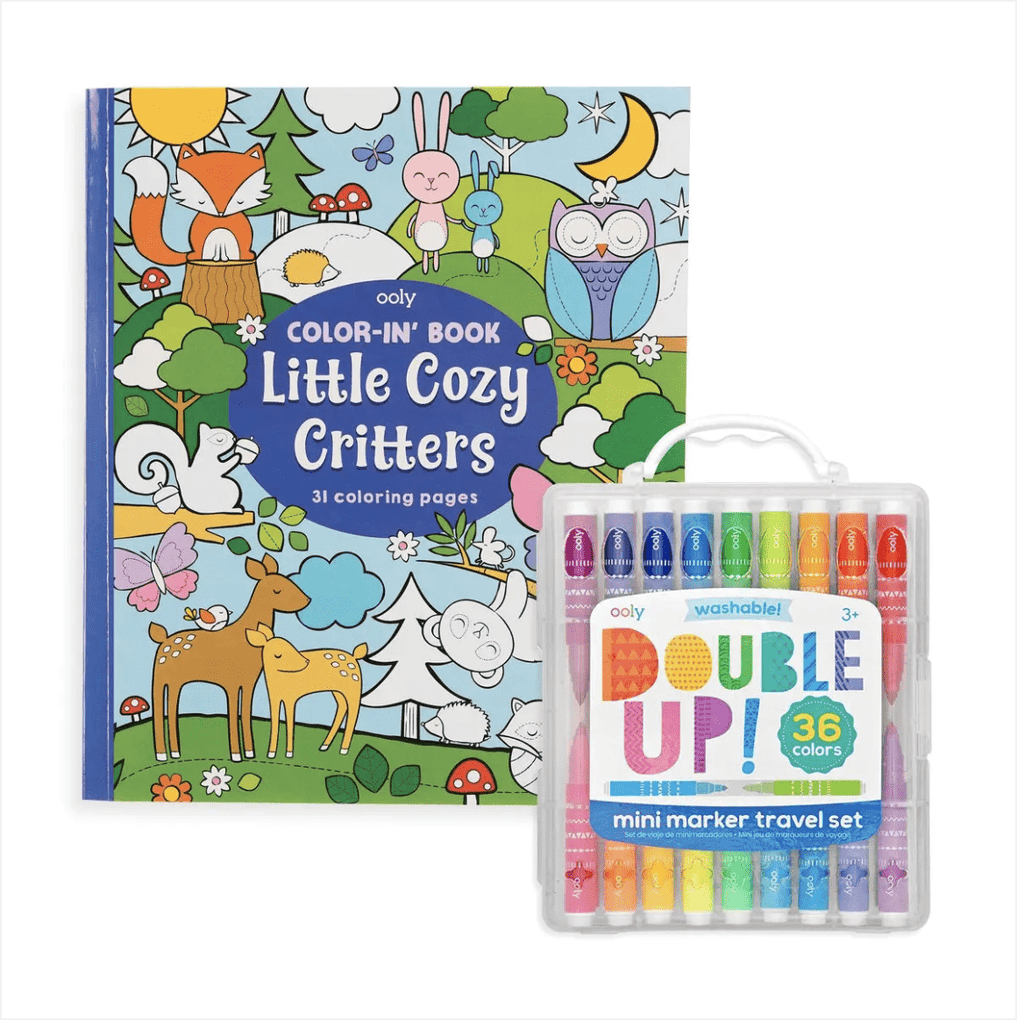 OOLY Double Up and Cozy Critters Coloring Pack
