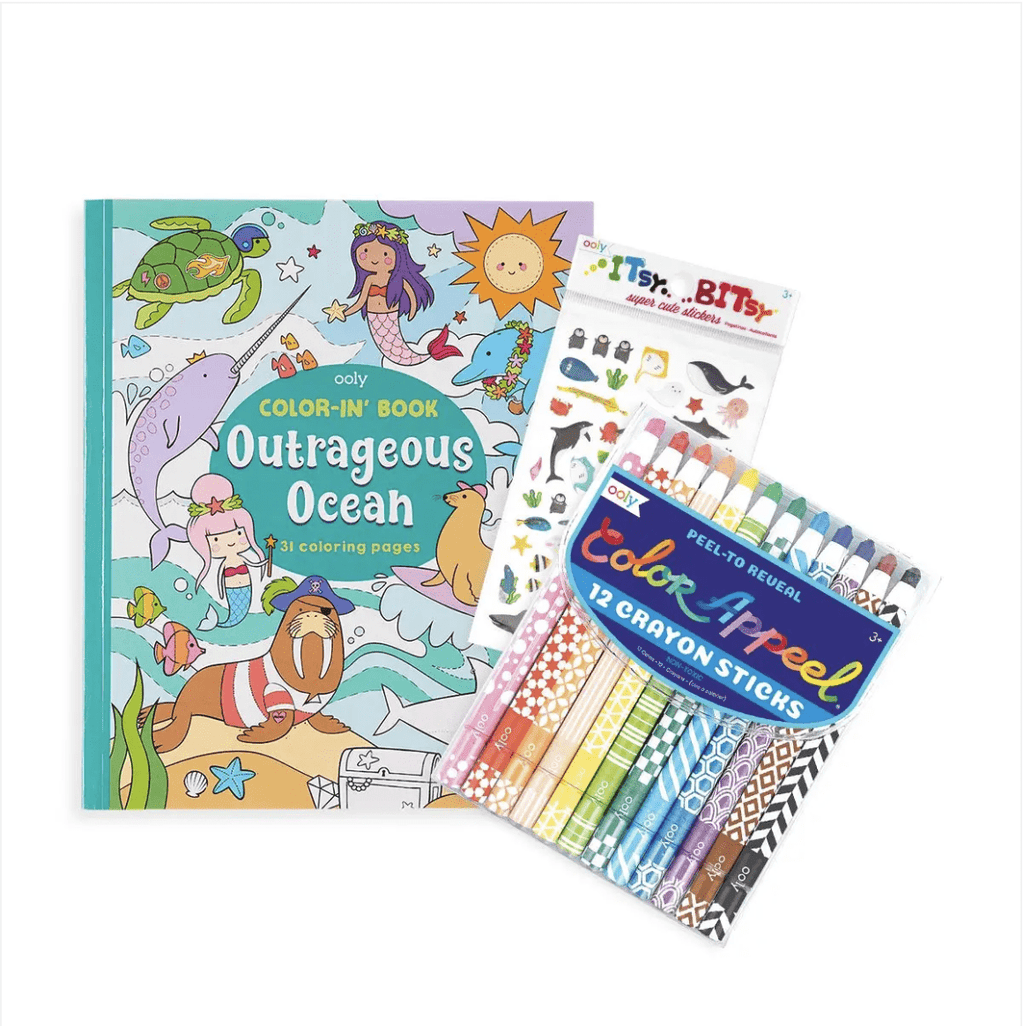 OOLY Outrageous Ocean Appeel Coloring Pack