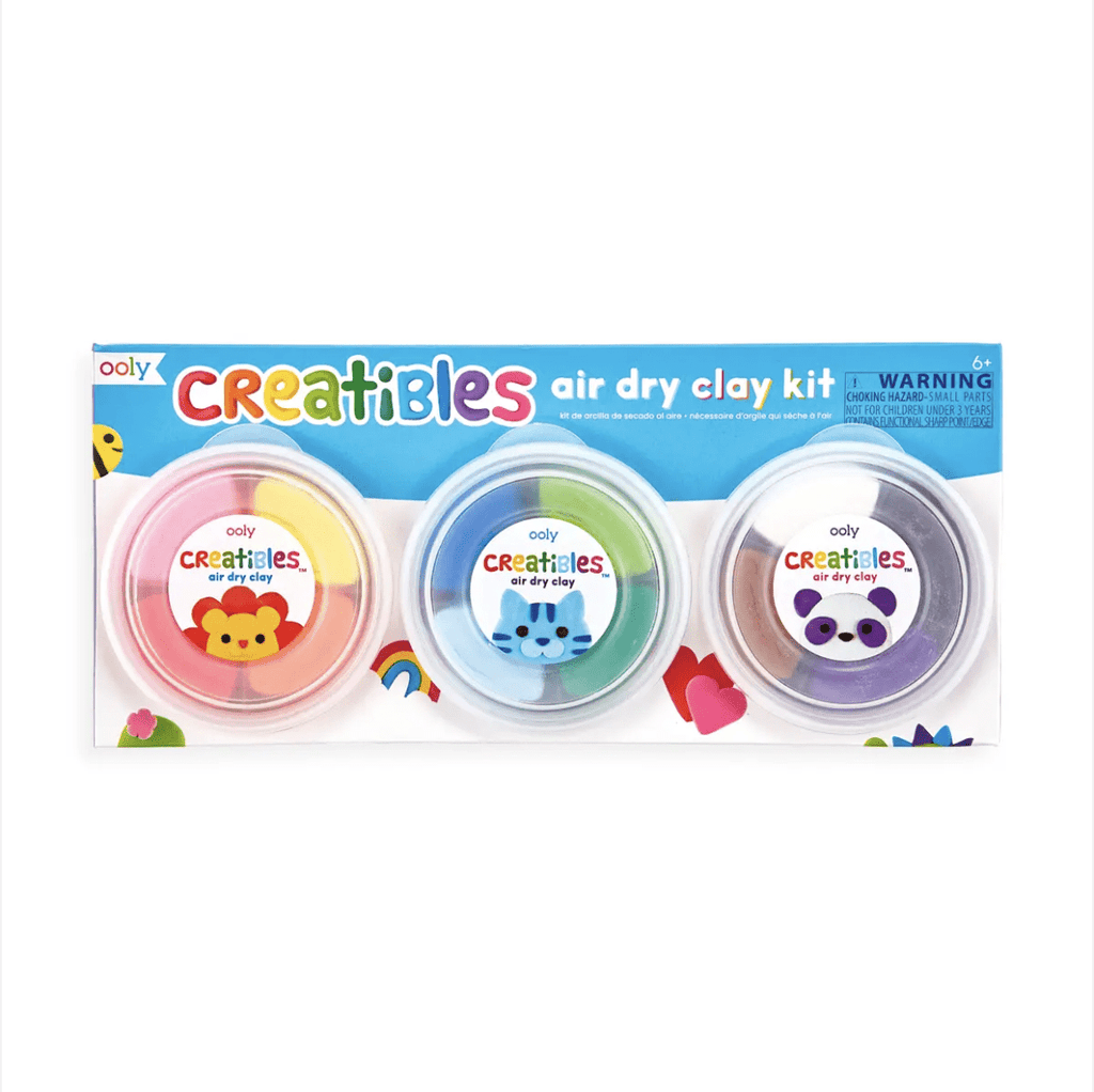 OOLY Creatibles DIY Air Dry Clay Kit- Set of 12