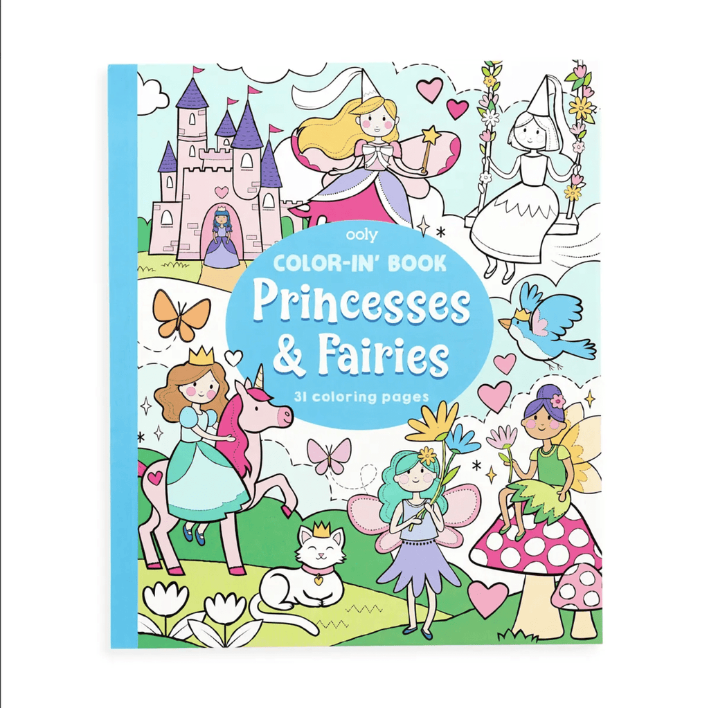 OOLY Color-in' Book: Princesses & Fairies