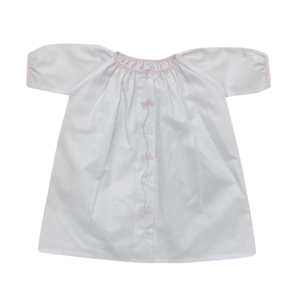 Auraluz Daygown Long Sleeve White with Bow