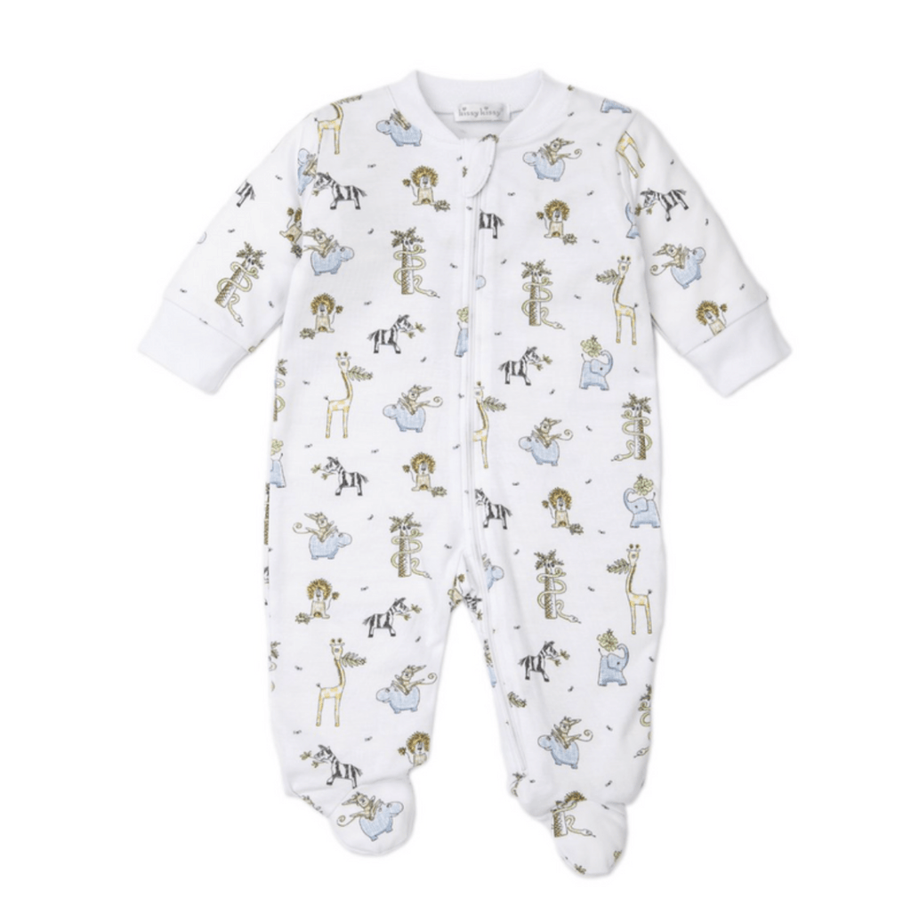 Kissy Kissy Jungle Jam Footie with Zipper