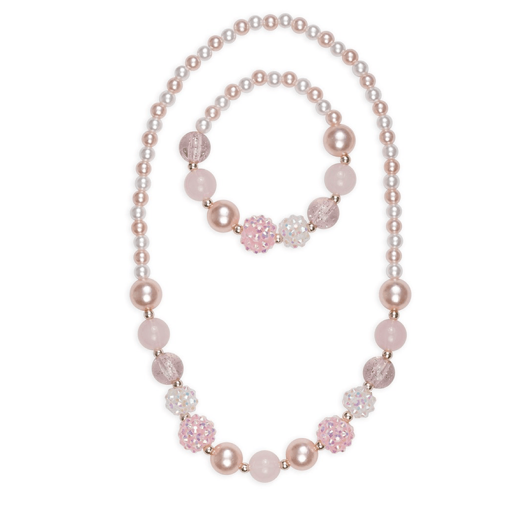 Great Pretender's Pinky Pearl Bracelet & Necklace Set