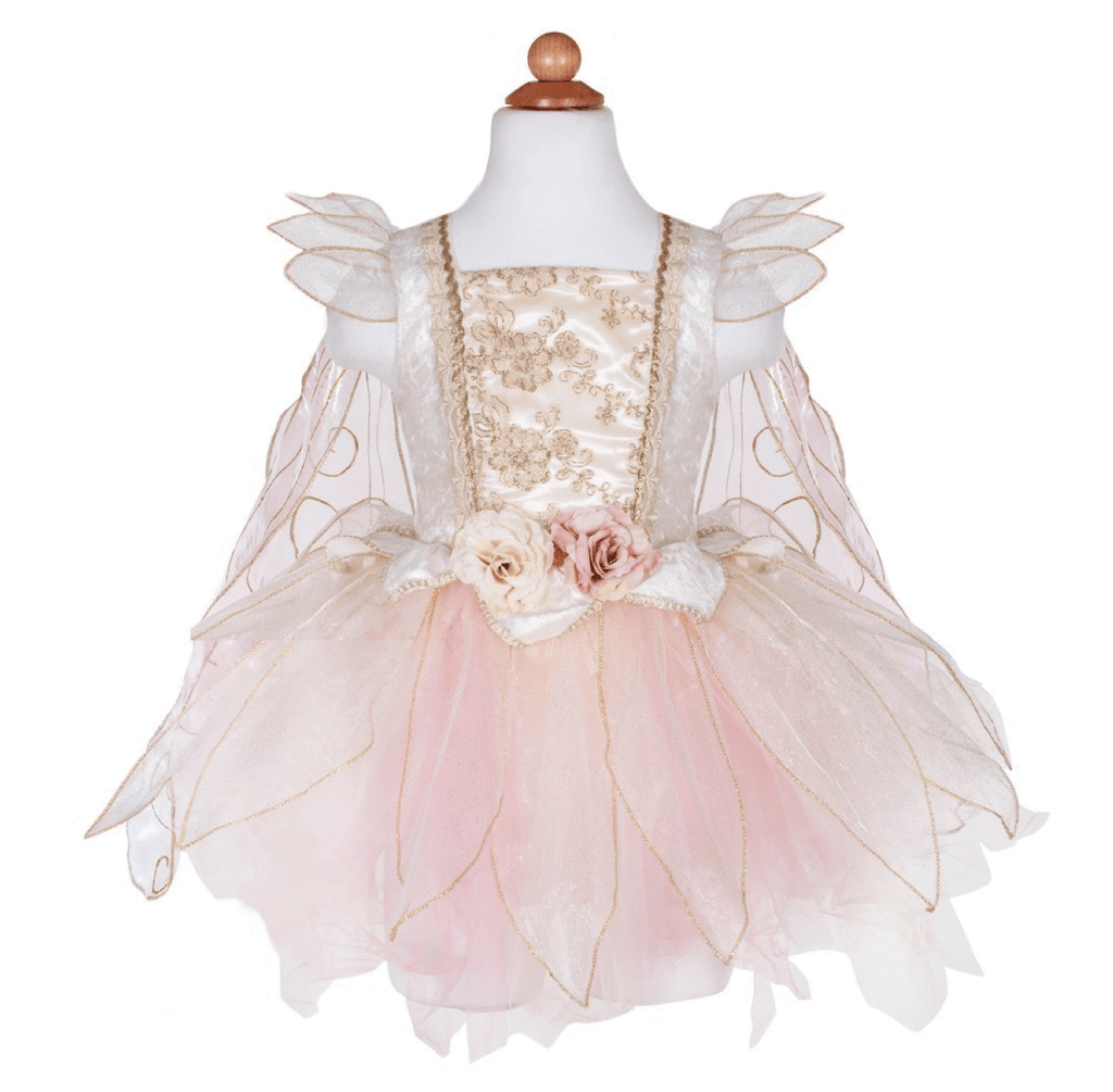Great Pretenders Golden Rose Fairy Dress with Wings (Sizes 5/6)