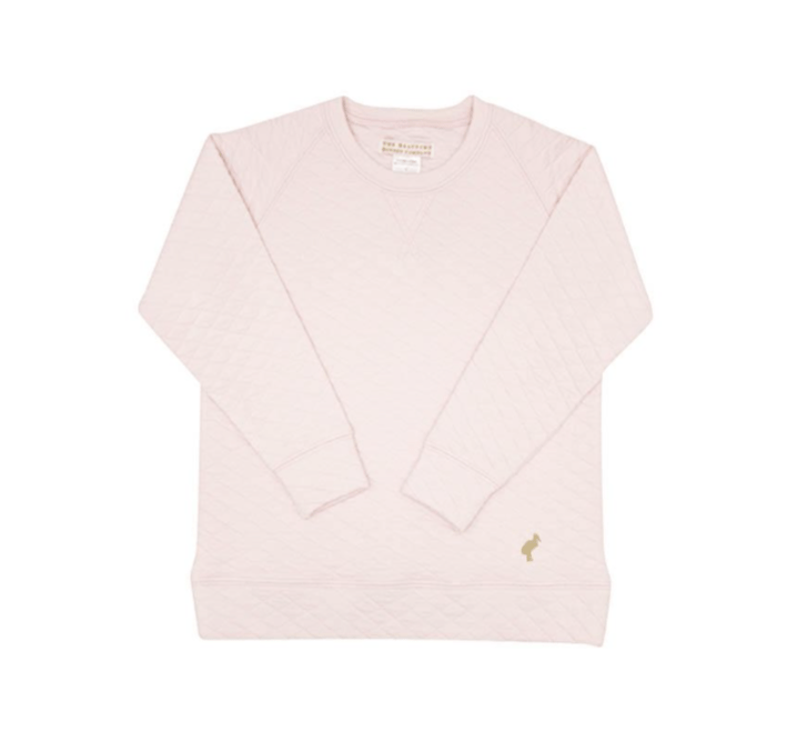 TBBC Cassidy Crew Neck Pink Quilted Fall 2020