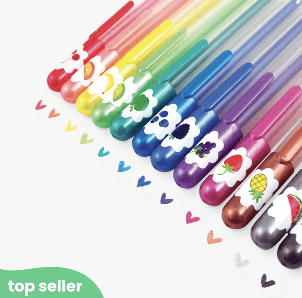 OOLY Yummy Yummy Scented Colored Glitter Gel Pens- Set of 12