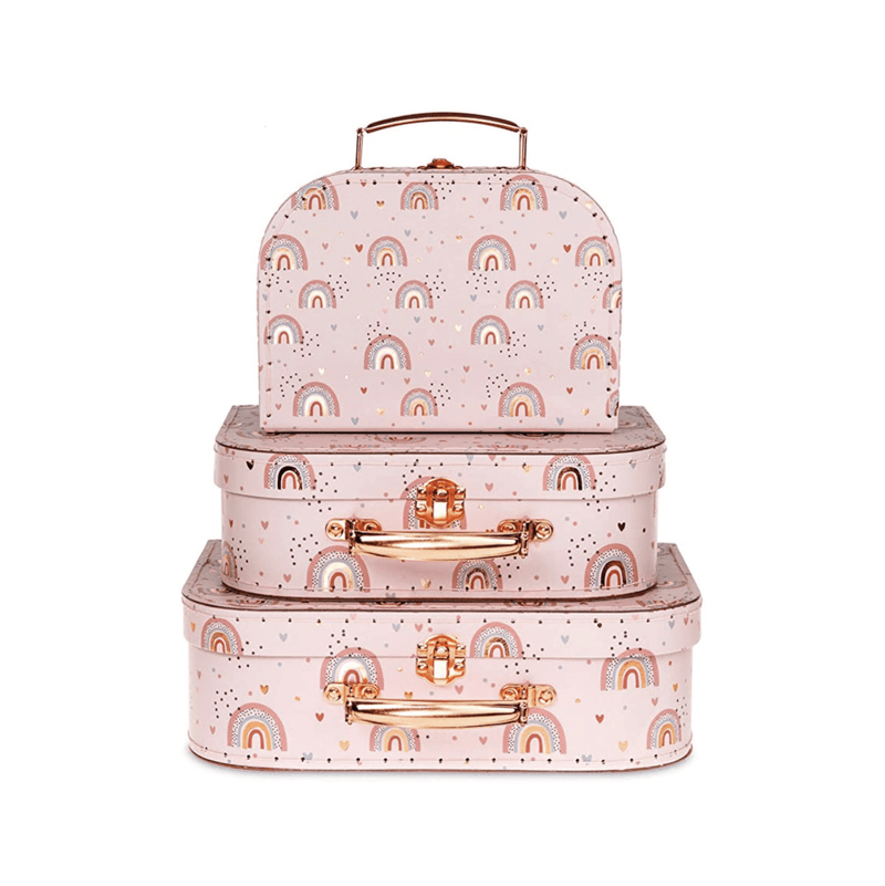 Jewelkeeper Rainbow Design Set of 3 Suitcases