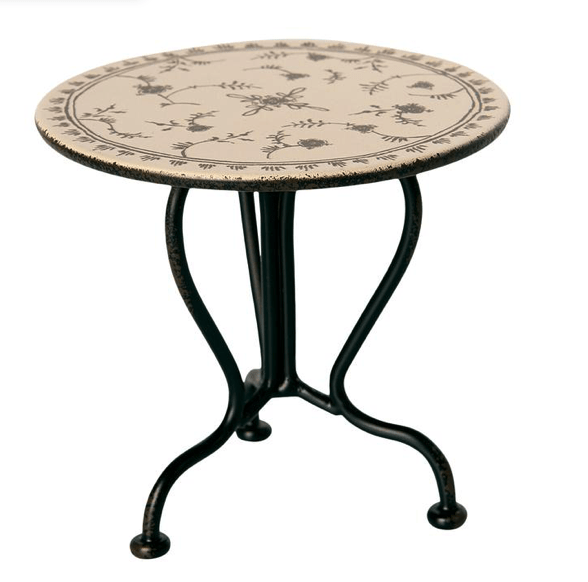 Maileg Vintage Tea Table, Micro - Anthracite
