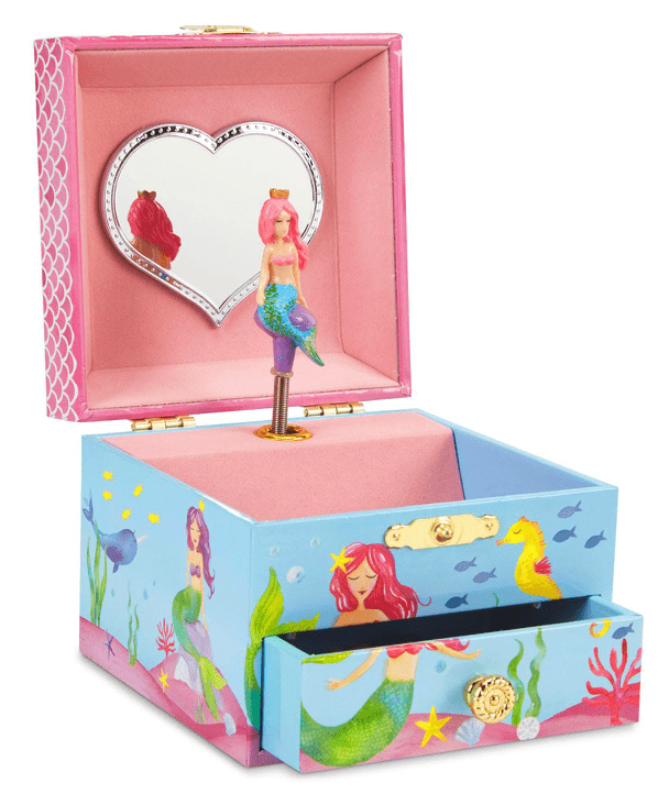 Jewelkeeper Mermaid Magic Mini Jewelry Box - Single Drawer