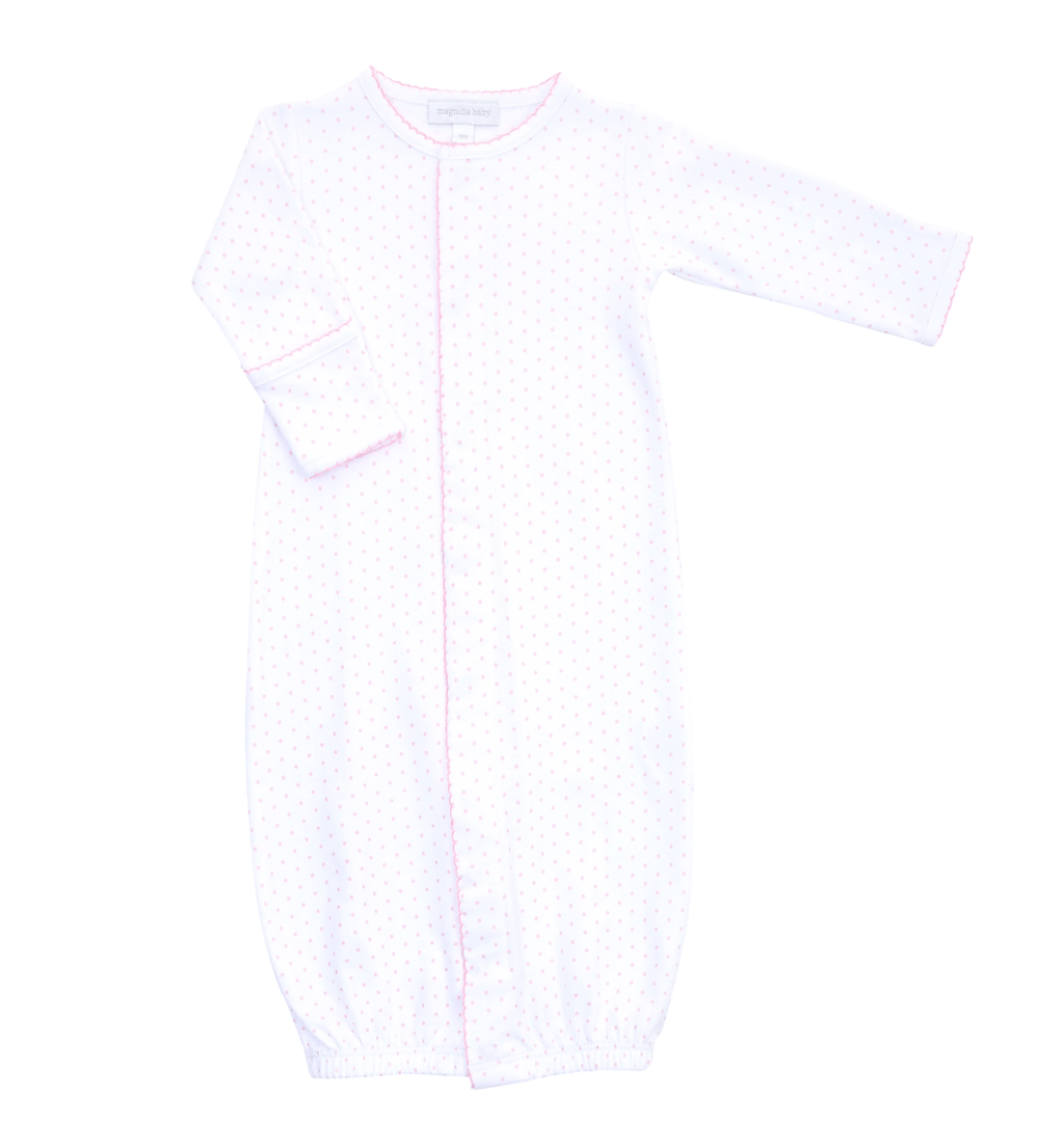 Magnolia Baby Essentials Mini Dot Converter Gown-Pink