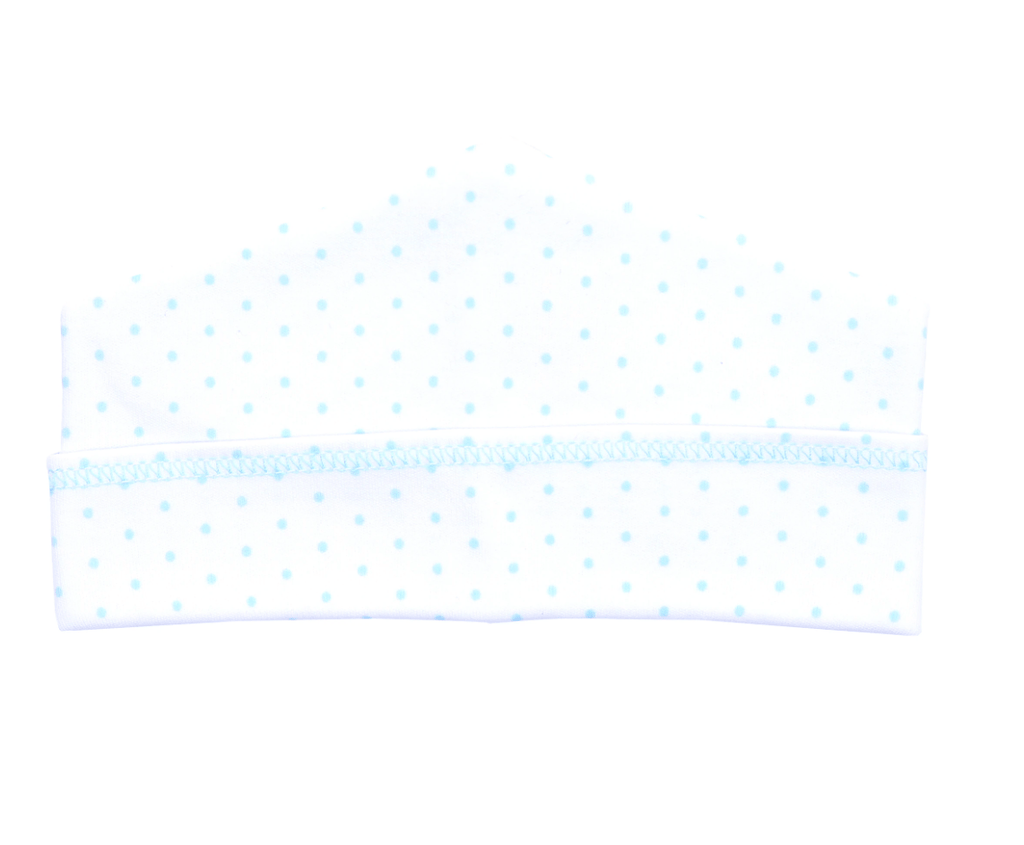 Magnolia Baby Essentials Mini Dot Hat-blue