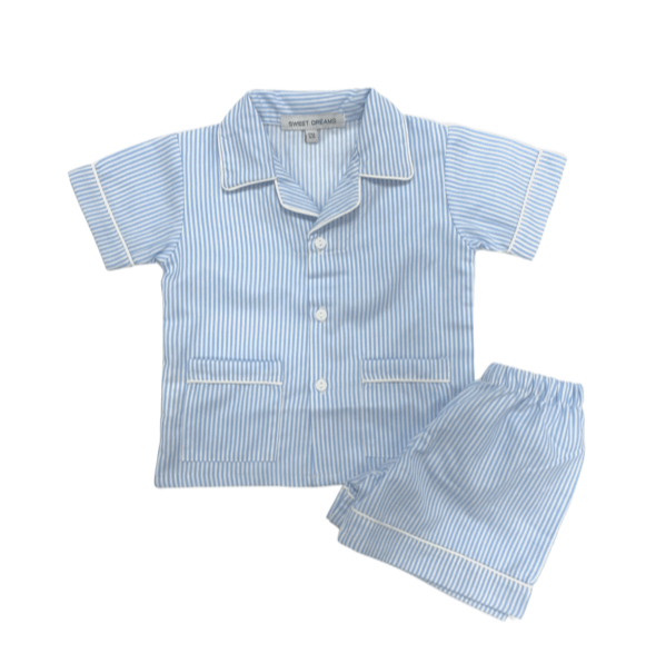 Sweet Dreams Short Sleeve Blue Stripe Pajamas