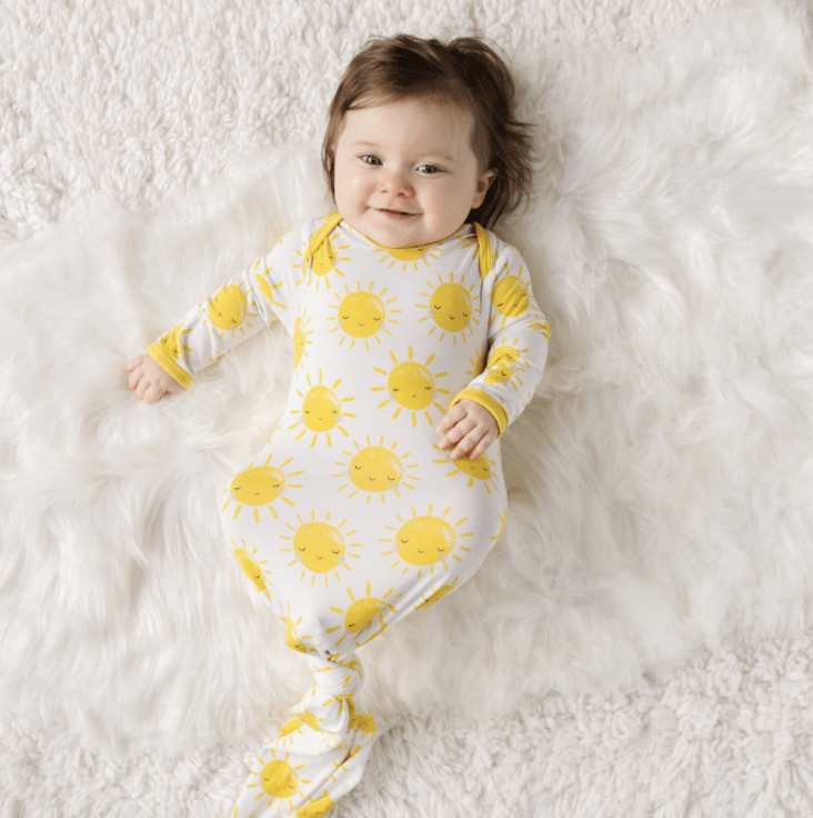 Little Sleepies Infant Gown - Sunshine