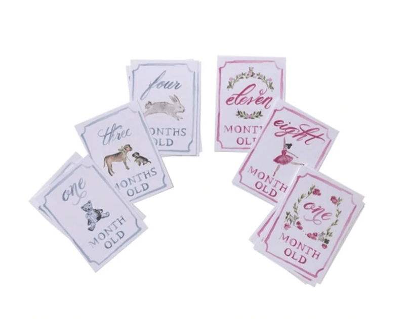 Over the Moon Gift Month by Month Card Set