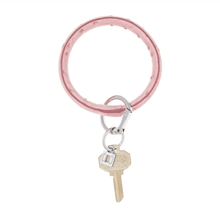 O-venture dusty rOse Ostrich big O key ring