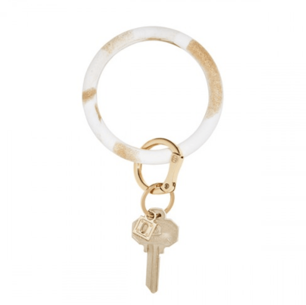 O-venture gOld rush marble silicOne Big O Key Ring