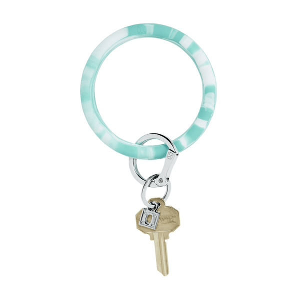 O-venture in the pOOl marble silicOne Big O Key Ring