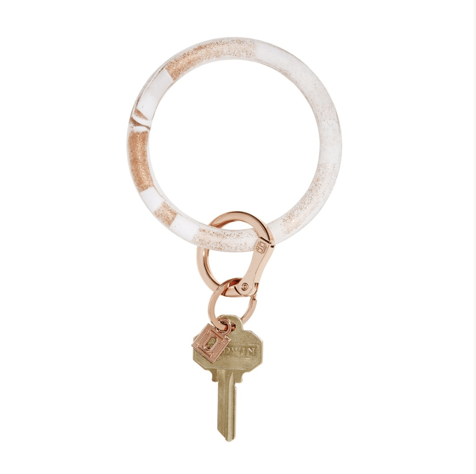 O-venture rOse gOld marble silicOne Big O Key Ring