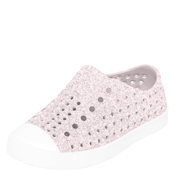 Native Jefferson Child Slip On Shoes - Milk Pink Bling
