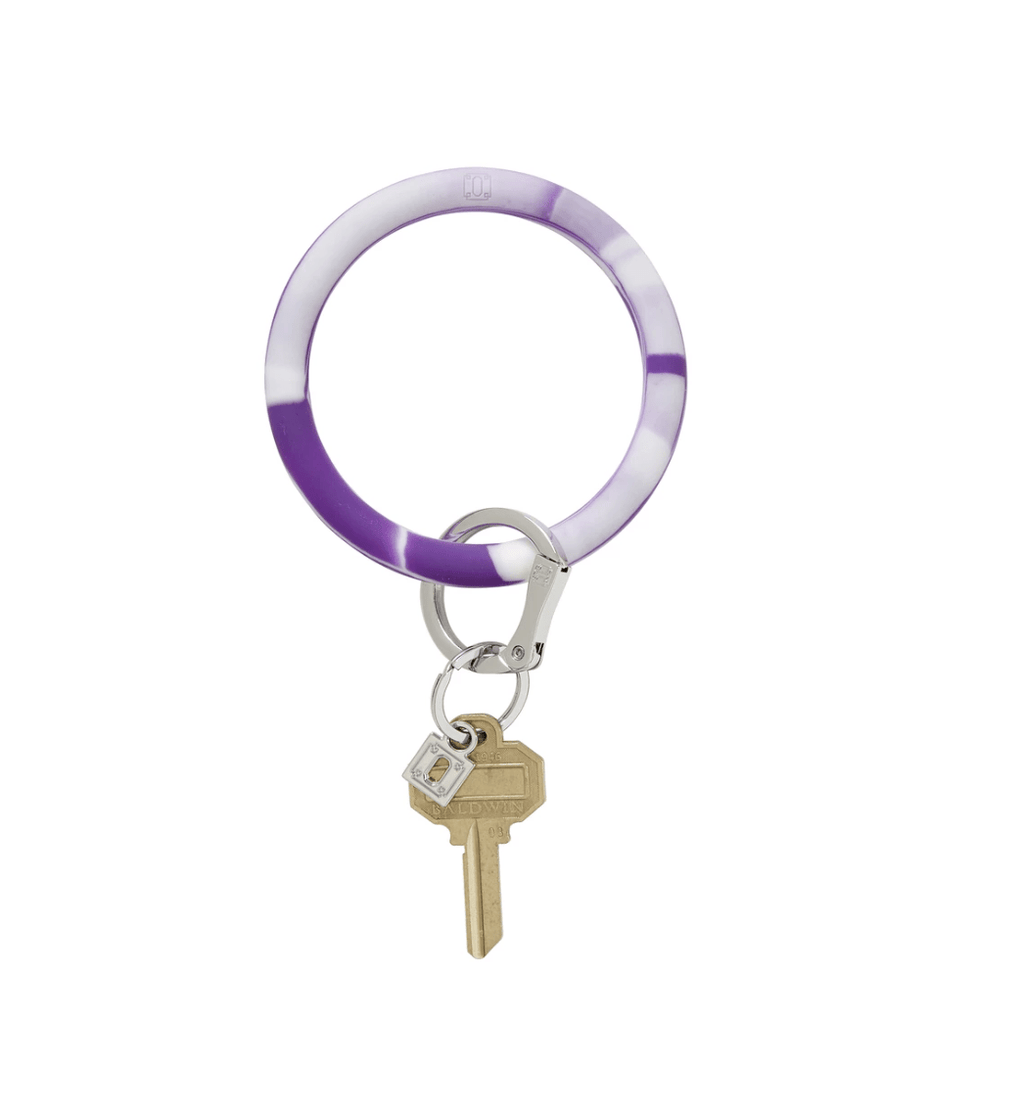 O-venture deep purple marble silicOne Big O Key Ring