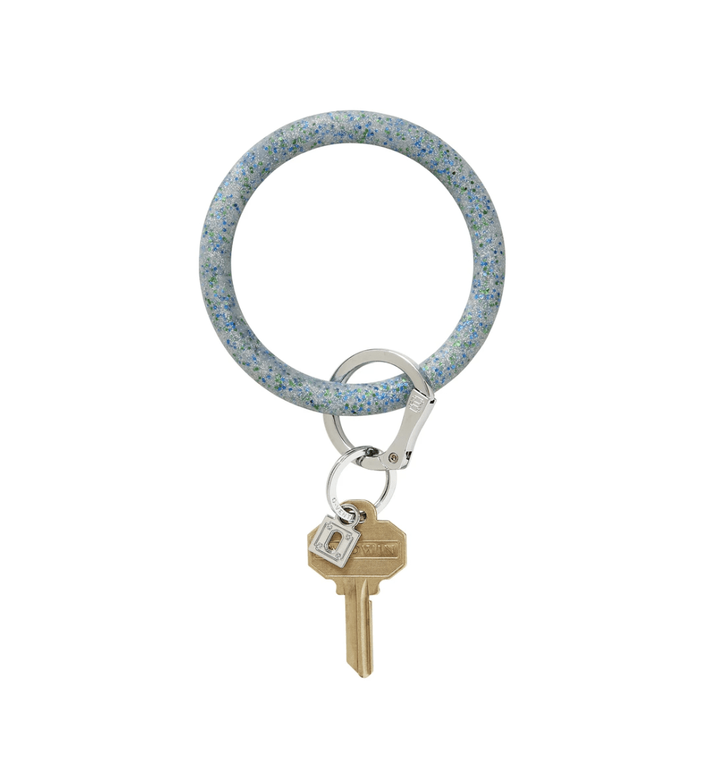 O-venture blue frOst cOnfetti silicOne Big O Key Ring