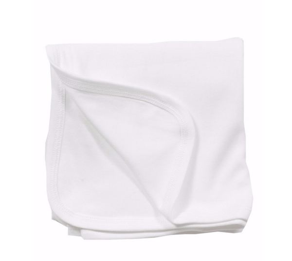 Lila+Hayes Plain Edge Blanket - White