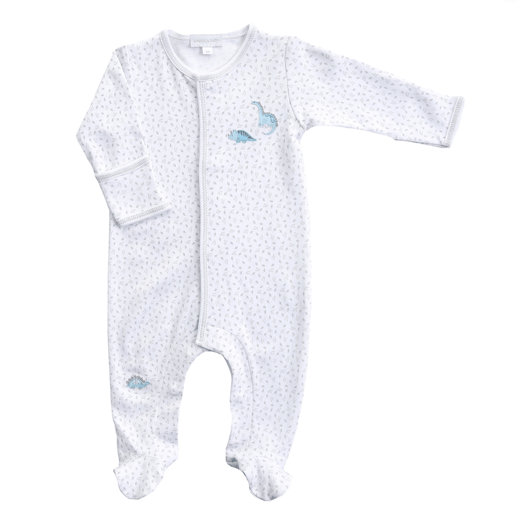Magnolia Baby Dino Riffic Embroidered Footie