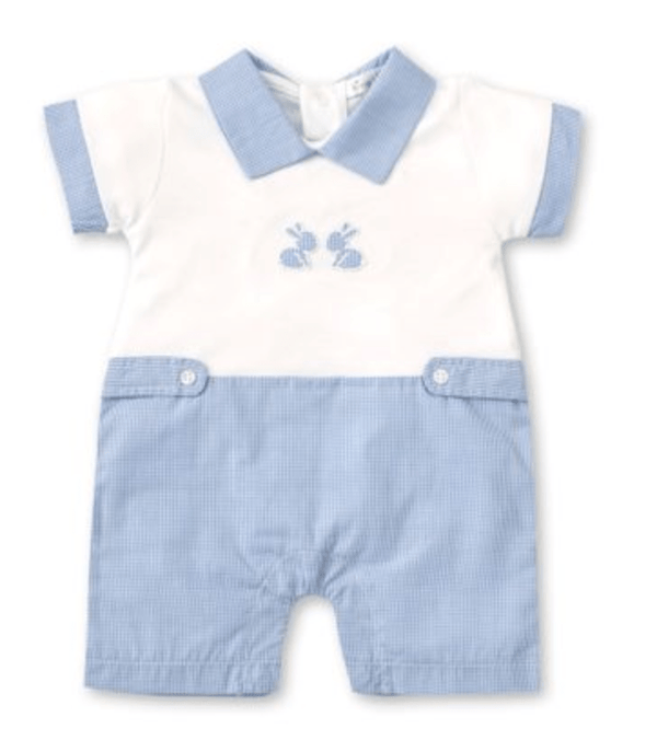 Kissy Kissy Short Playsuit with Pique Baby Bunnies
