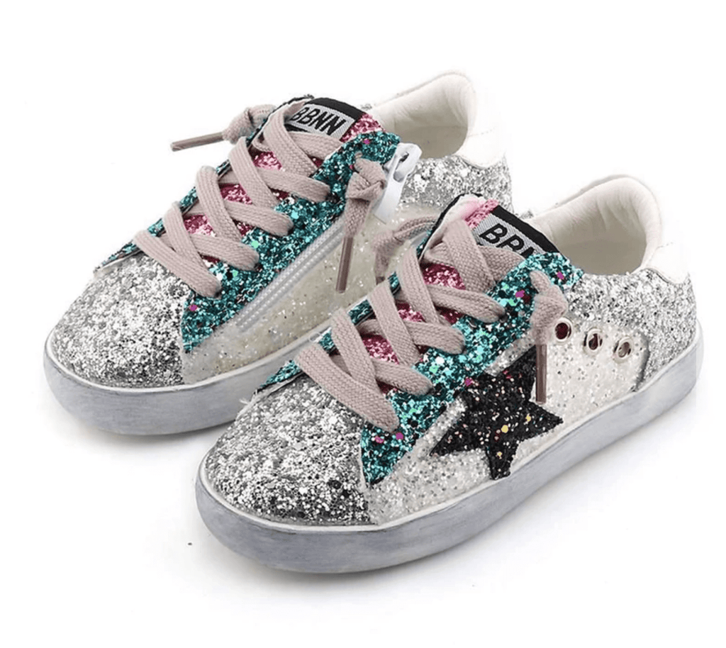 Lola + The Boys Star Girl Glitter Sneakers