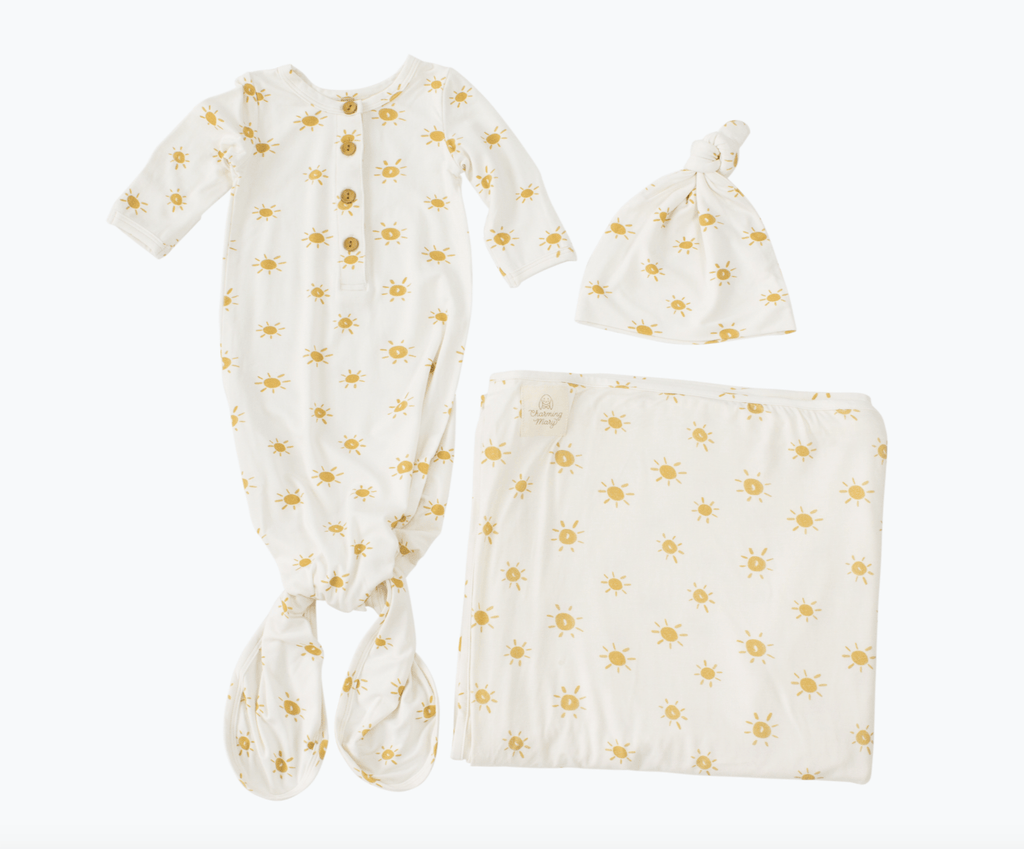 Charming Mary Swaddle Blanket - Sunshine Knit