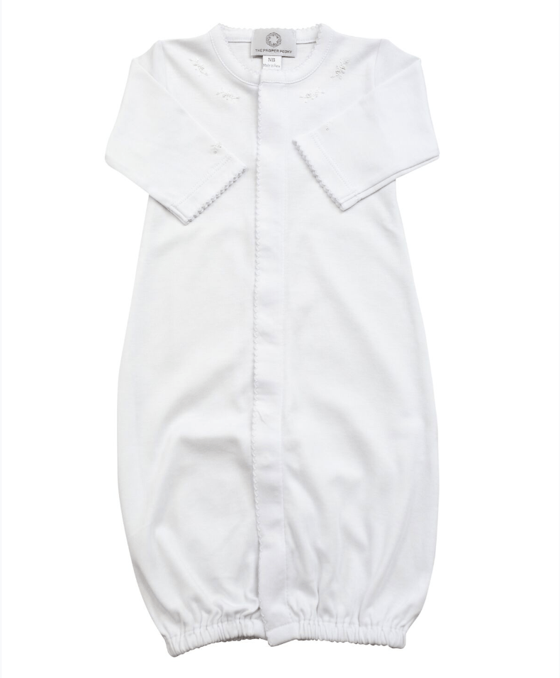 The Proper Peony White Pima Converter Gown