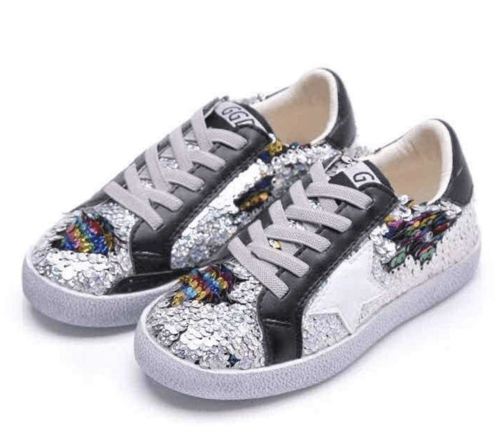 Lola and The Boys Sequin Flip Star Sneakers