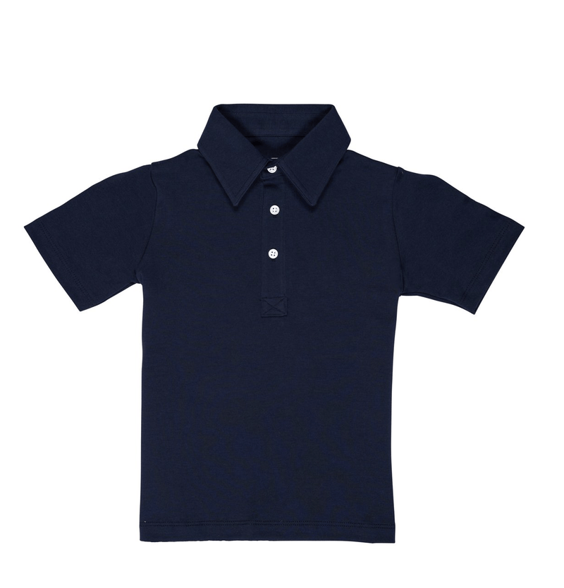Lila + Hayes Griffin Golf Shirt - Navy