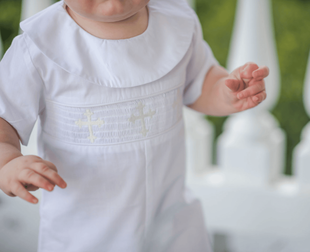 Southern Siblings At The Cross Romper