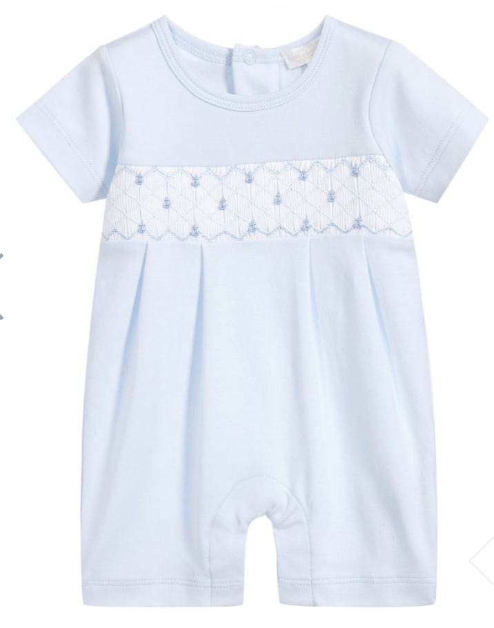 Kissy Kissy Light Blue Playsuit w/ Hand Smocking